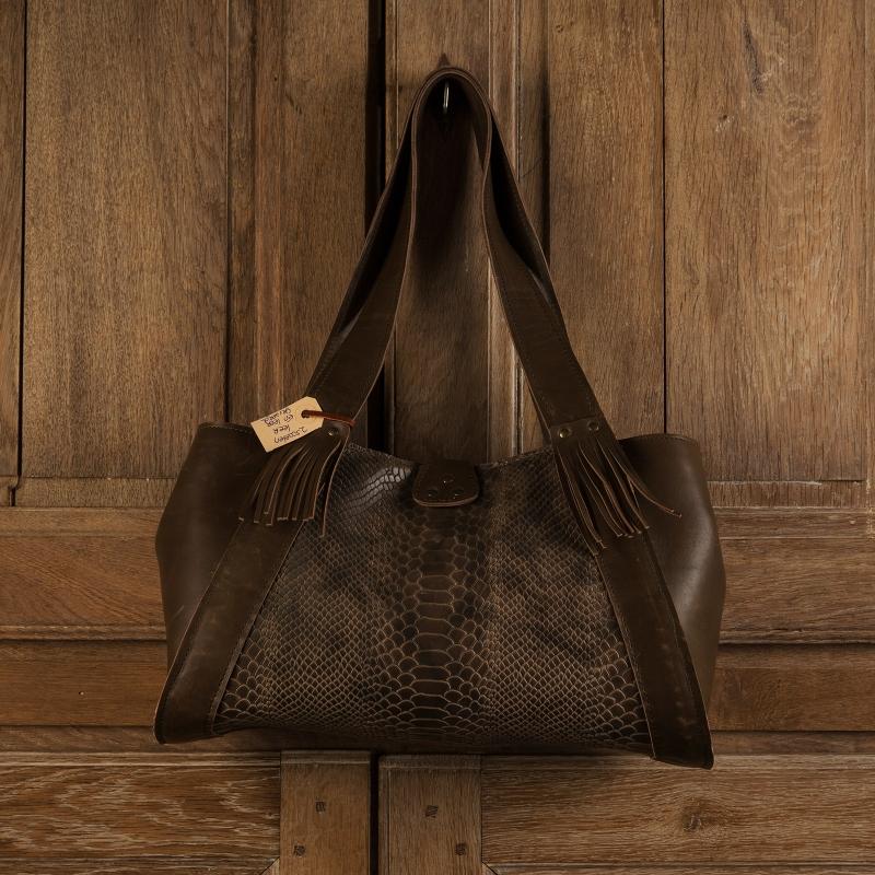 Bags by-J - Green Crocodile