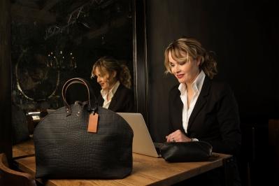 Bags by-J - Zwart leren tas