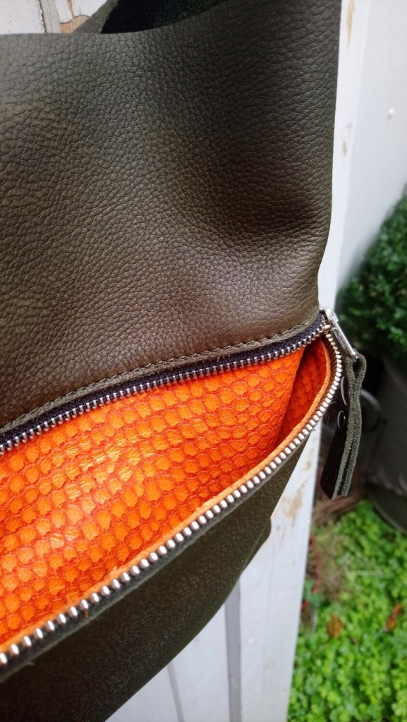 BAGS BY-J GREEN ORANGE